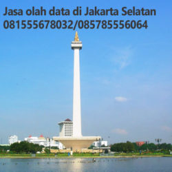Jasa Olah Data di Jakarta Selatan| Hubungi 081555678032